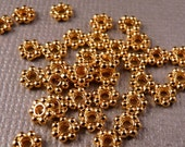 Daisy Spacers 50 4mm Shiny Gold Daisy Spacers Gold Findings Gold Beads Metal Findings Metal Beads