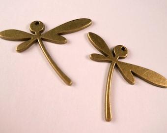 Dragonfly Pendants Brass Beads Brass Dragonfly Brass Findings Brass Pendants Metal Beads Metal Pendant Brass Beads Metal Beads