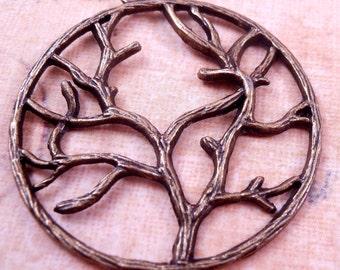 Tree Pendant Antique Brass Tree Brass Findings Brass Bead