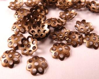 Brass Bead Caps Filigree Beadcaps Brass Findings