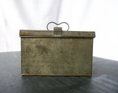Antique Pieced Tin Lunch Box -- Antique Industrial Age