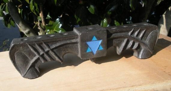 Cool Black Concrete Menorah