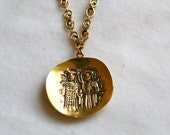 Gold Knights Necklace