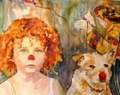 Here Come the Clowns     Art Print by Maure Bausch