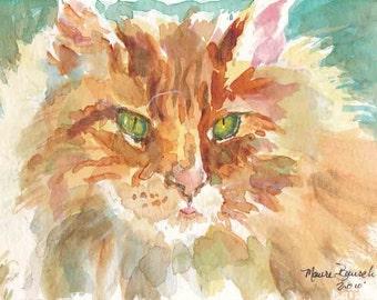 Watercolor Art Print by Maure Bausch