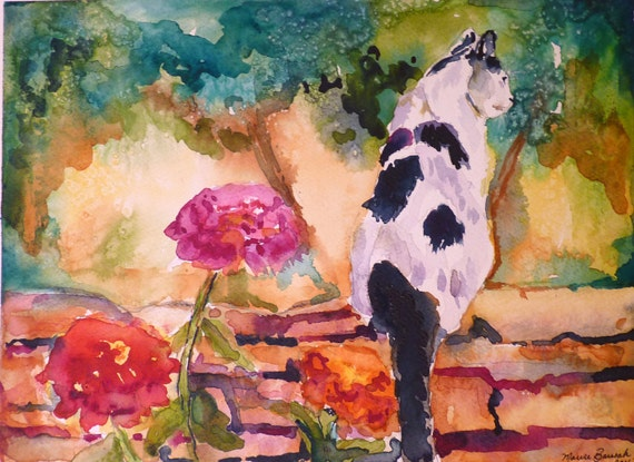 Roma in September Watercolor Print by Maure Bausch
