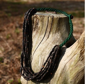 Multi-stranded Coconut bead necklace