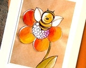 Small Blank Card - Leah the Bee