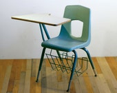 RESERVED for emcgehee///  Vintage Modern Institutional Industrial School Desk///   RESERVED