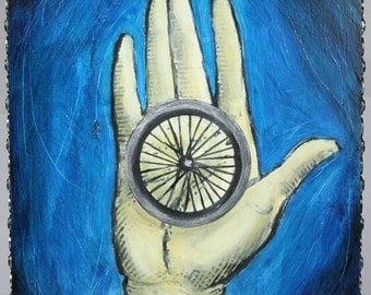 Manos (an original bicycle painting)