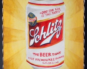 Schlitz Beer Painting