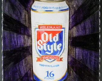 Old Style Tall Can Cheap Beer Painting