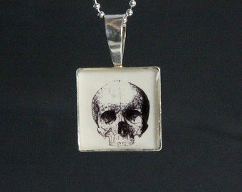 Vintage Skull Engraving Necklace