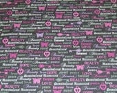 CLEARANCE Michael Miller Fabric by the Yard Love Forever