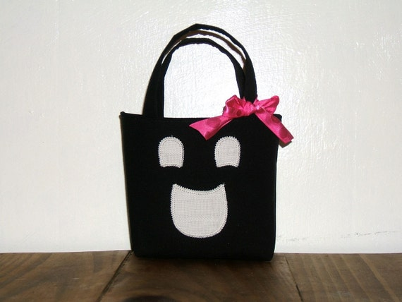 Ghost Face Purse Tote Bag Trick or Treat for Baby Infant Toddler