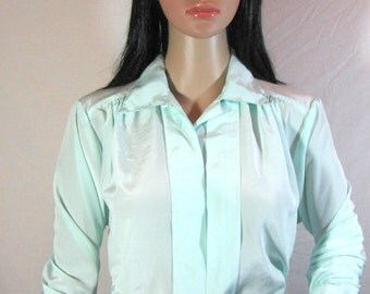 1980's Lt Blue BLOUSE by WORTHINGTON
