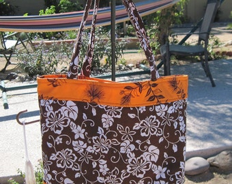 Hawaiian Tote Market/Beach/Laptop Bag