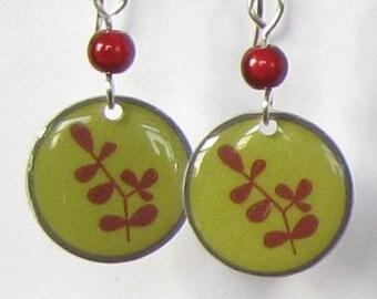 Green Branch Earrings