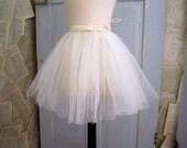 1950s Crinoline, White 50s Crinoline, Short Length