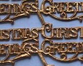 Dresden Gold Christmas Foil Embossed Labels