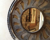 Repurposed Victorian Chimney Stove Cap Artifact MIRROR