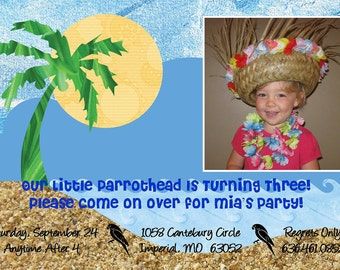 "Birthday Party Invitation ""Island Time"""