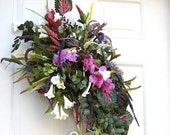 Spring Medley silk floral arrangement chic design for your front door.