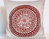 white pillow red pillow oriental south african print embroidery pattern decorative pillow throw pillow fathers day gift pillow cushion