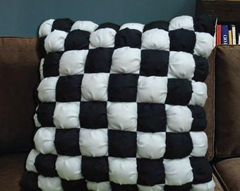 lets play football-A square stitched filled cushion cover in size 16inch x 16inch