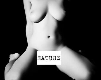 Nude female art black and white photography fine ART wall hart home decor square print - Semplicità - 5 - mature
