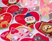 Set of 12 Valentine's PDF file