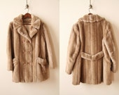 50s Faux Mink Fur Coat - Chestnut