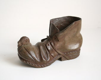 Mouseman Carved Wood Boot - Folk Art Home Decor - Robert Mouseman Thompson
