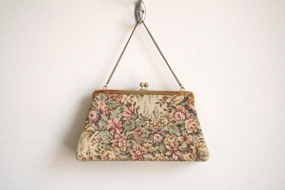 50s Floral Tapestry Handbag