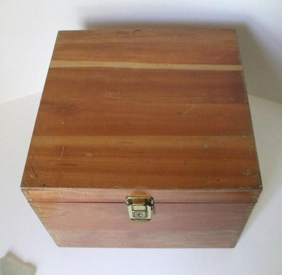 vintage wooden nega file box