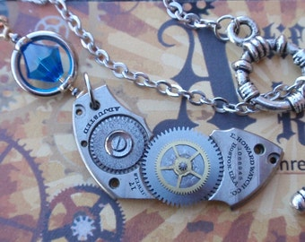 Watchworks Steampunk Vintage watch part Necklace neo victorian