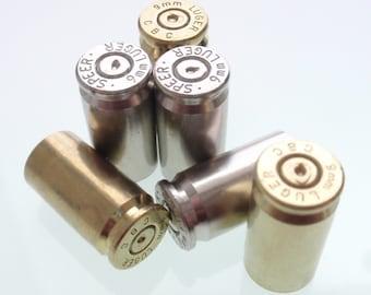 30 mixed 9mm Nickel and brass Empty brass shells bullet casings, rounds, cases, cartridges, empties, reloads, spent  gun