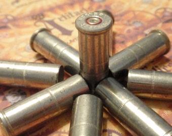 Bullet Casings, Bullet Shells 25 pcs 38 Special Nickel Empty brass rounds cases cartridges empties reloads spent