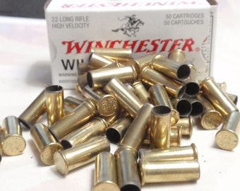 25 pcs  empty 22 brass bullet casings shells Freshly range picked brass shells rounds, cases, cartridges, empties reloads, reloading