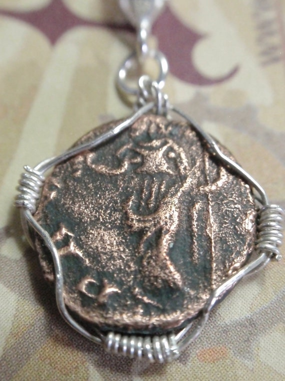 Ancient Roman coin Sterling silver ROLO Necklace Ancient ROME Bronze Coin RCN12