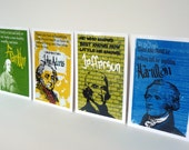 Founding Fathers Postcard Prints - Set of 4