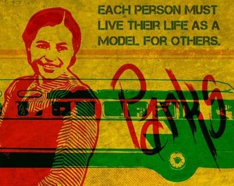 Rosa Parks Print 11x17 - Famous Seniors