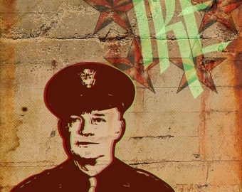 Dwight Eisenhower Print 11x17 - Famous Seniors