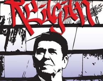 Ronald Reagan Print 11x17 - Famous Seniors