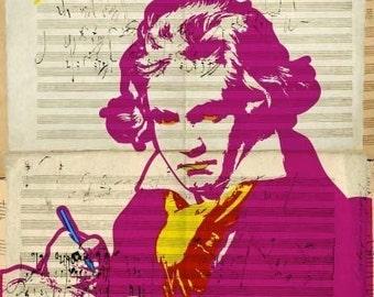 Ludwig van Beethoven Print 11x17 - Famous Seniors