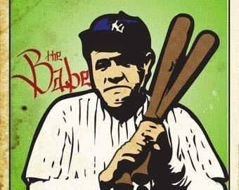 Babe Ruth Print 11x17 - Famous Seniors