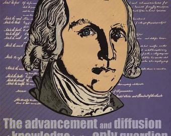 James Madison Print 11x17 - Famous Seniors