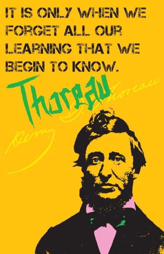Henry David Thoreau Print 11x17 - Famous Seniors