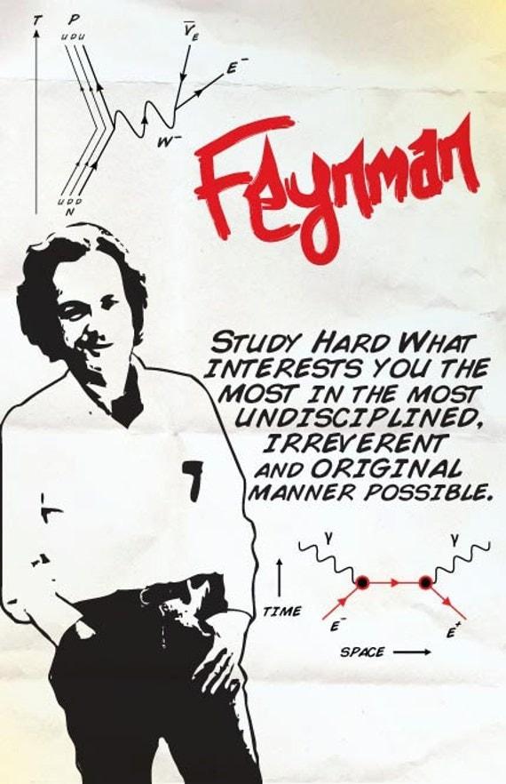 Richard Feynman Print 11x17 - Famous Seniors