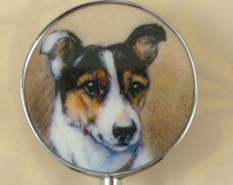 Vintage Art Jack Russell Terrier Bottle Stopper